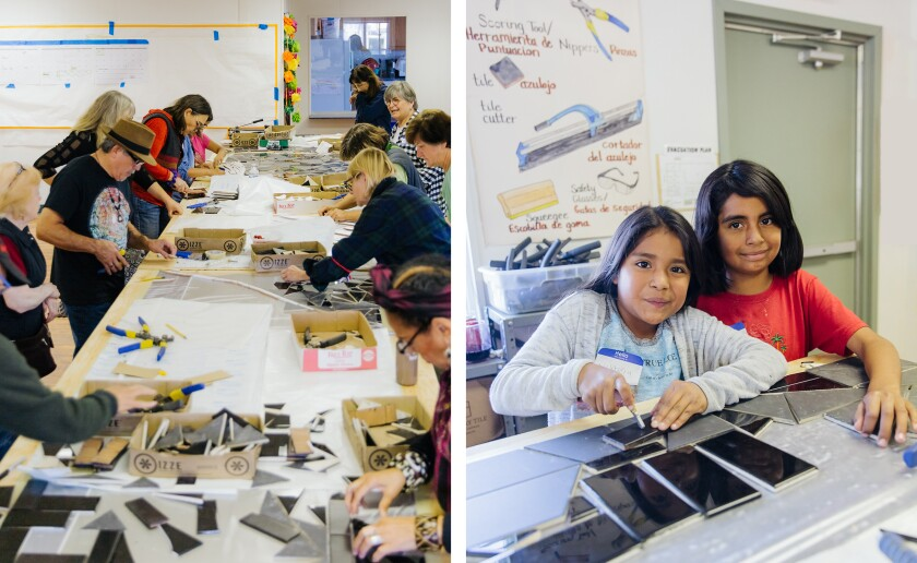 Kids at the Muzzio Mosaic Arts Center