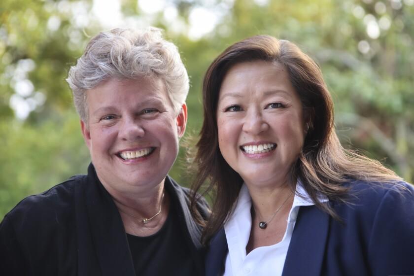 Gail Newel (left) and Mimi Hall.