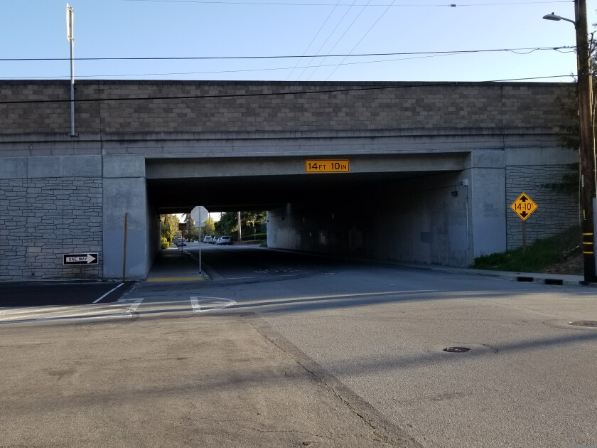 The underpass near Emeline Avenue where 37-year-old David Hartley's body was found on January 17, 2021.