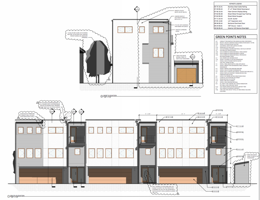 A rendering of the three-bedroom units to be built at 418 Pennsylvania Ave. in Santa Cruz.