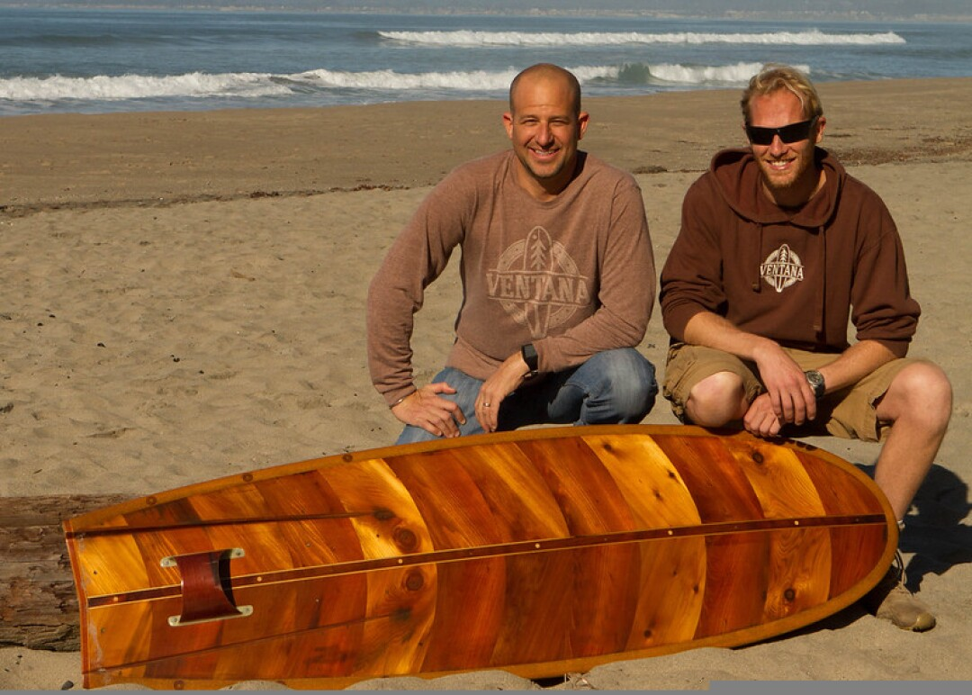 David Dennis and Martijn Stiphout with a Western Flyer piece.