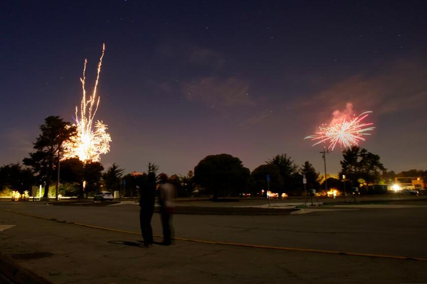 Fireworks over Aptos