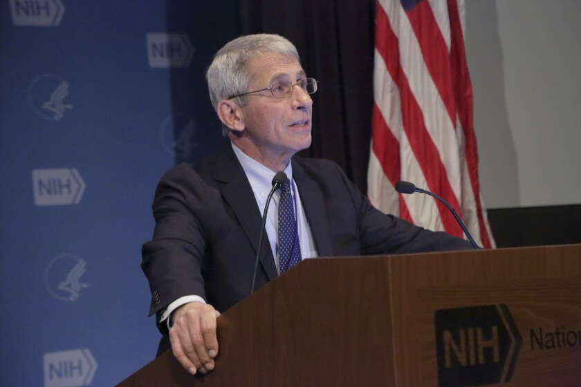Anthony Fauci at podium