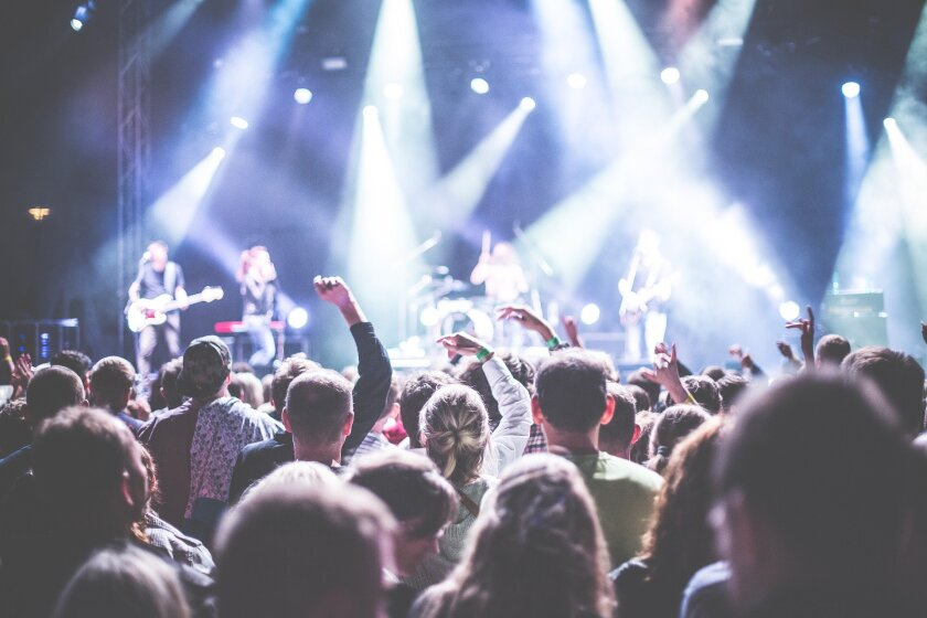 File image of concert goers