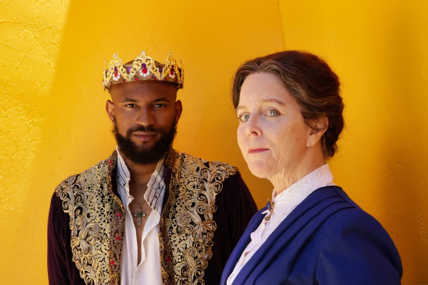 """Lorenzo Roberts plays King Richard II in """"RII"""" and Patty Gallagher plays Susan B. Anthony in """"The Agitators."""""""