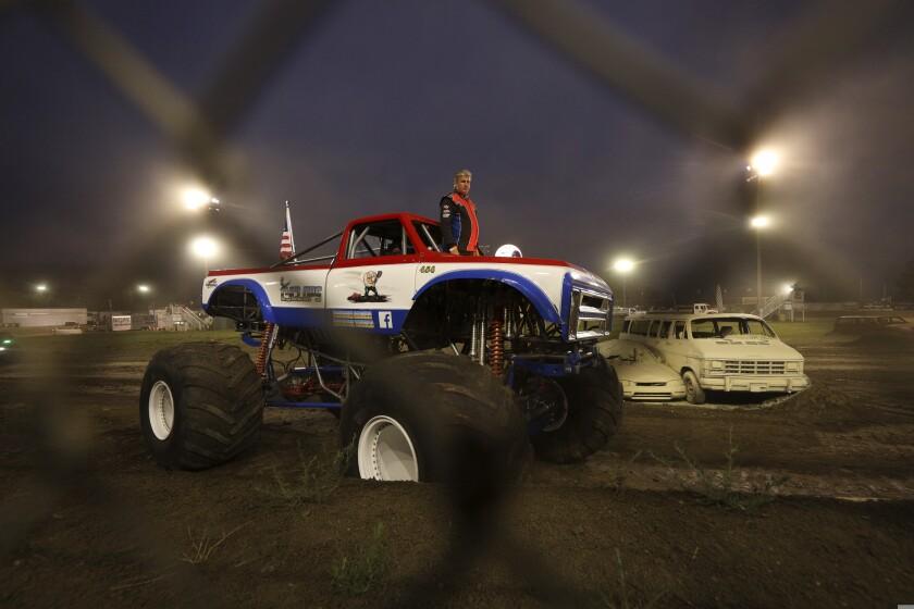 Monster trucks at the county fair