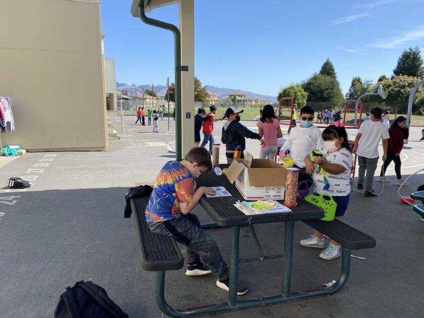 Students at Ann Soldo Elementary School in Watsonville.