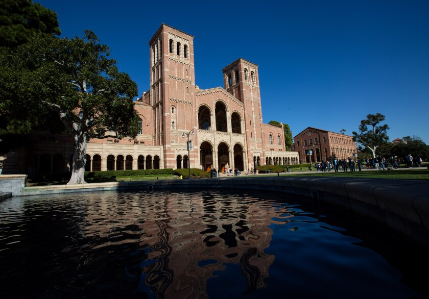 Royce Hall on the campus of UCLA on Tuesday, February 4, 2020 in Los Angeles, California. (Jason Armond / Los Angeles Times)