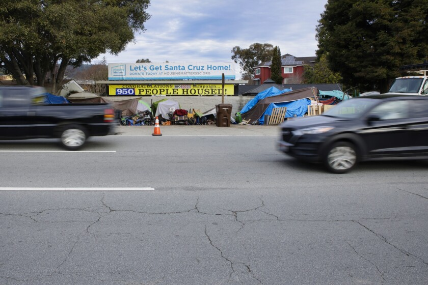 After long wait, Highway 1 and 9 homeless encampment to be cleared out to make way for road expansion project