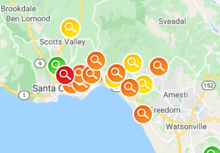 A massive power outage affected most of Santa Cruz County Tuesday evening.