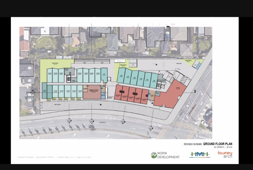 An overview of the development plan at 831 Water St.