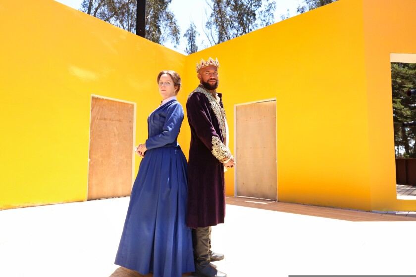 Patty Gallagher plays Susan B. Anthony in the The Agitators and Lorenzo Roberts plays King Richard II in RII.
