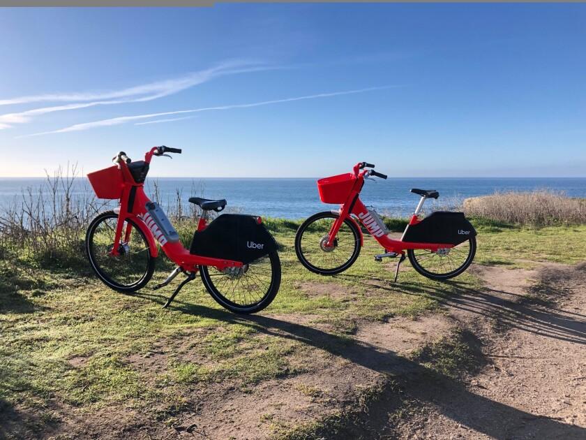 JUMP bikes in Santa Cruz.