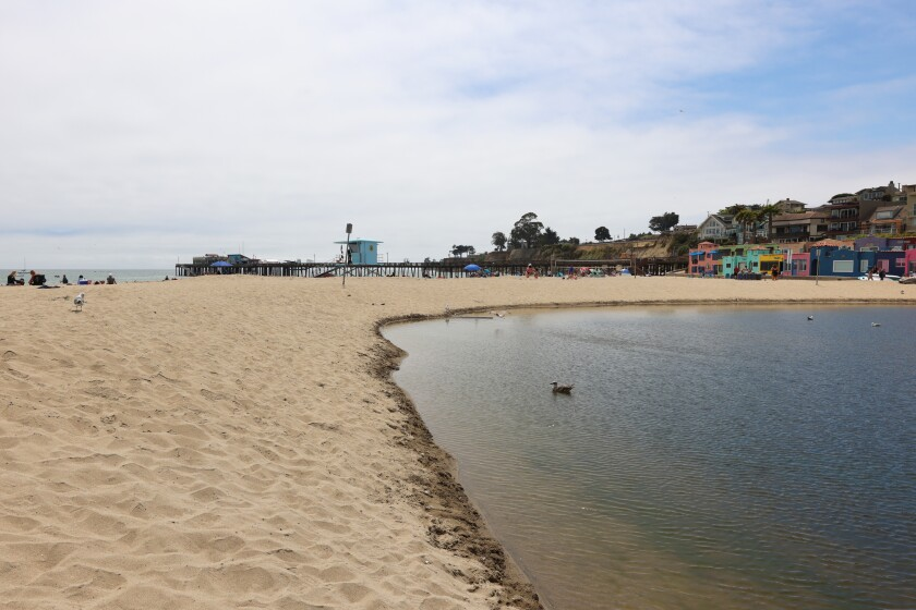 Capitola Beach routinely earned Fs for water quality from nonprofit Heal the Bay over the past year.