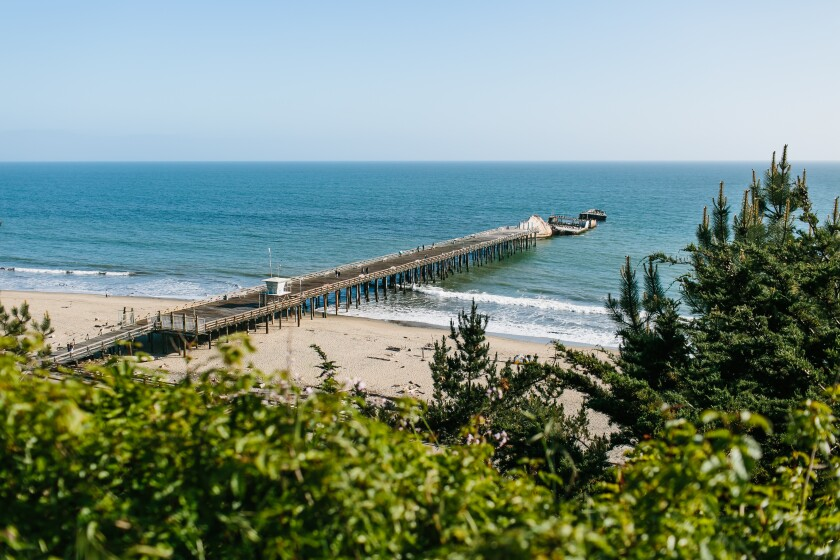 The S.S. Palo Alto, also known as the Cement Ship at Seacliff State Beach in Aptos.