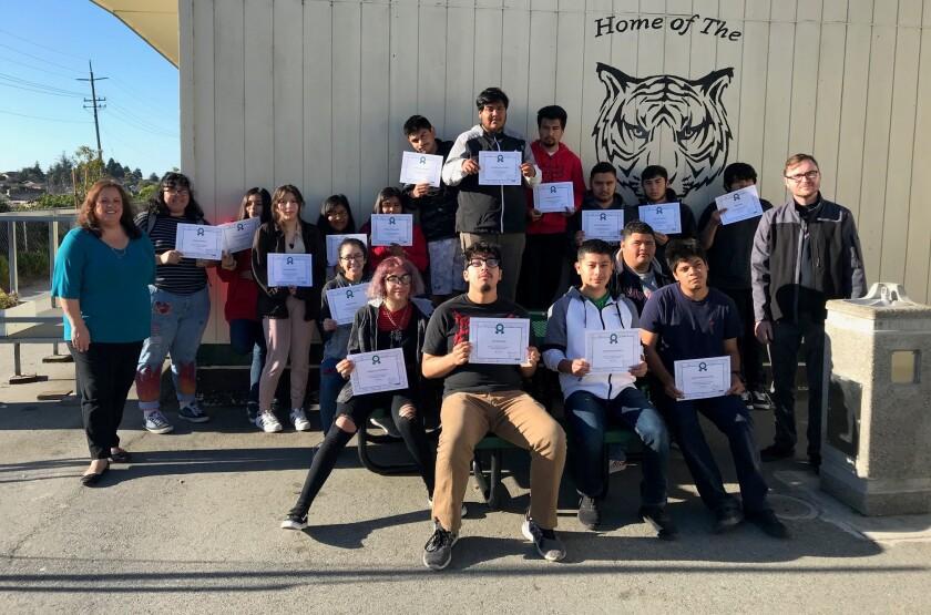 eighteen students
