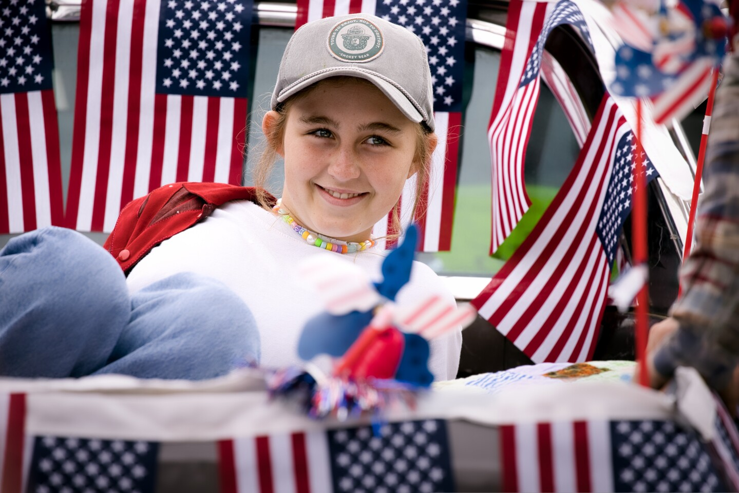 Revelers gathered Sunday for the World's Shortest Parade in Aptos marking the first Independence Day post-pandemic.