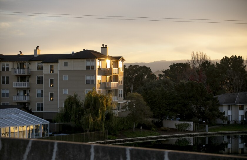 Marlin's Cove, a housing complex with low-income units, in Foster City on Dec. 2, 2020.
