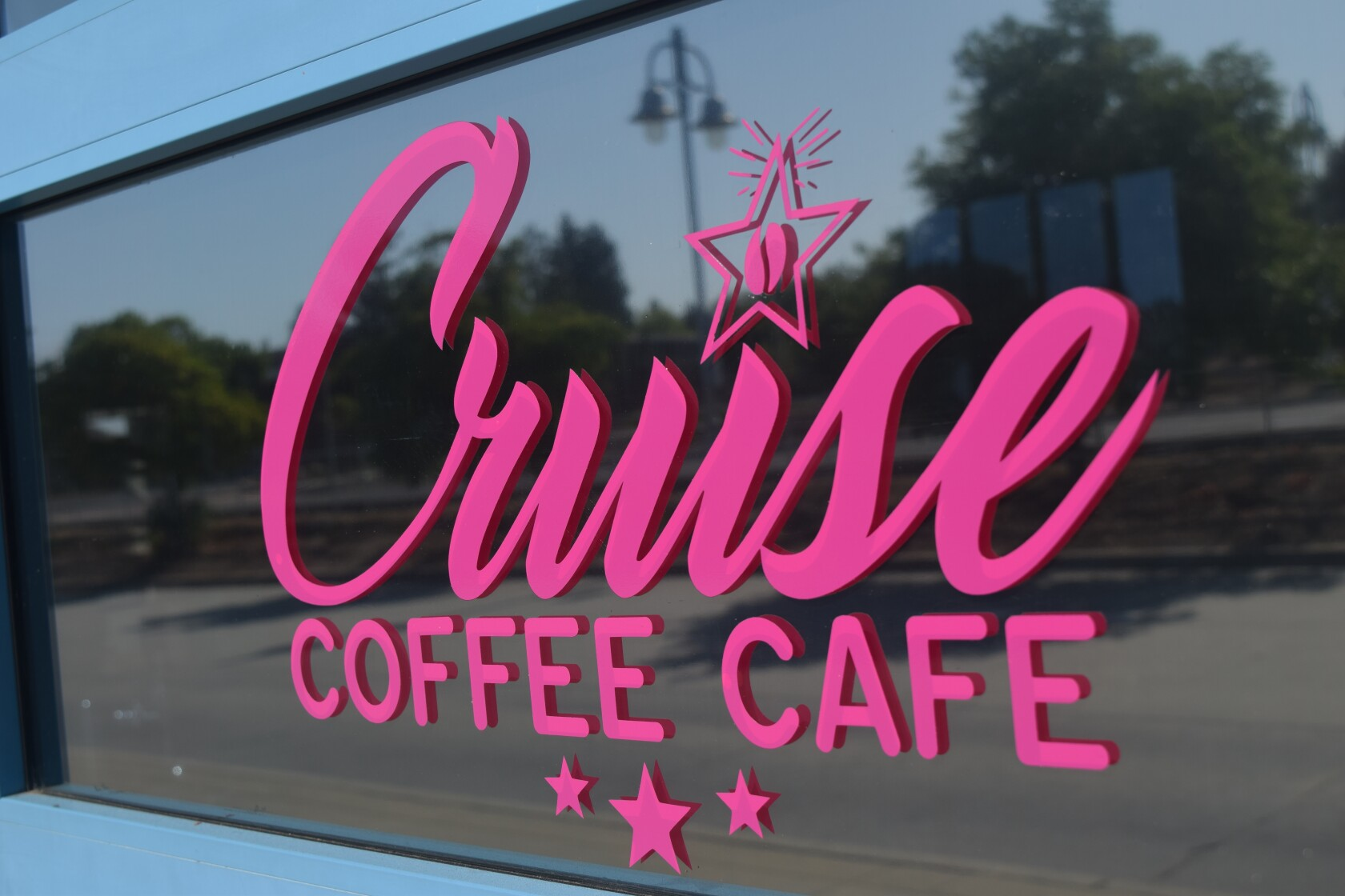 Outside the Cruise Coffee Cafe in Scotts Valley. The cafe, located at 246 Kings Village Road, opened last month and will host a ribbon-cutting ceremony on Thursday from 5:30 to 7 p.m.