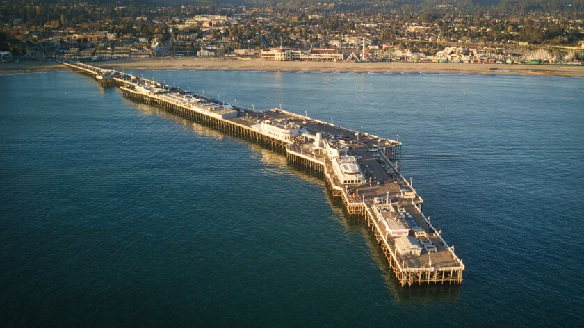 The Santa Cruz Wharf on Nov. 24, 2020.