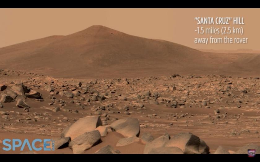 Mars' Santa Cruz Hill.
