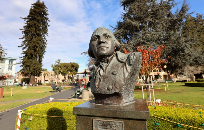 The George Washington statue in downtown Watsonville is under the microscope.