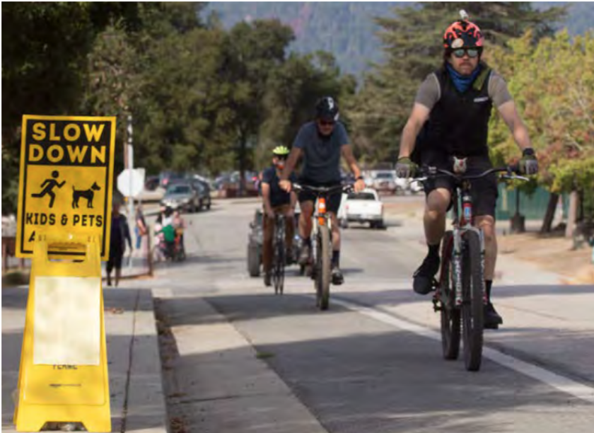 Cyclists take to bike lanes in Scotts Valley.