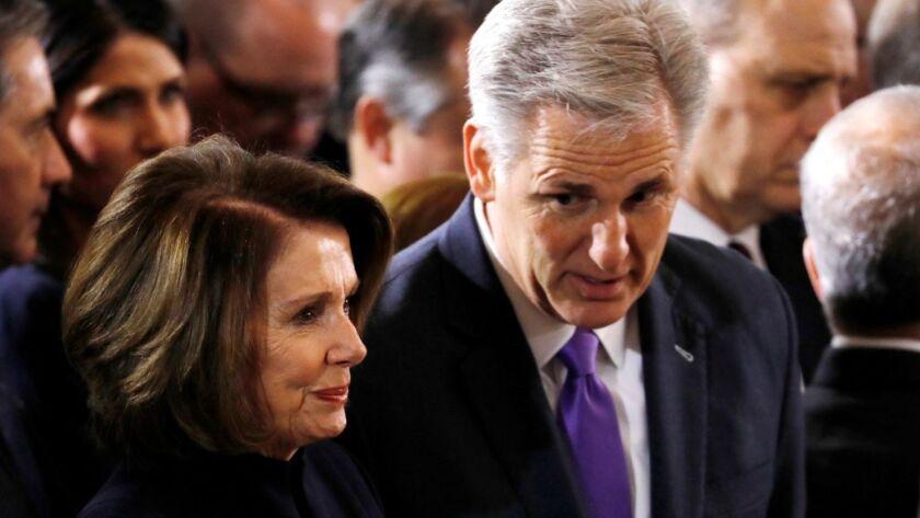 Nancy Pelosi and Kevin McCarthy.