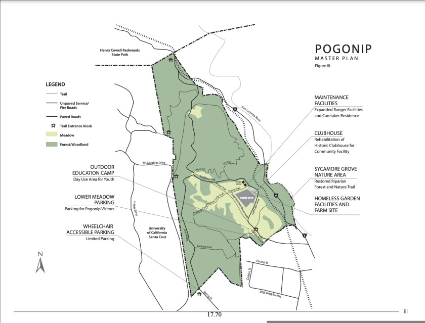 A map from the Pogonip Master Plan