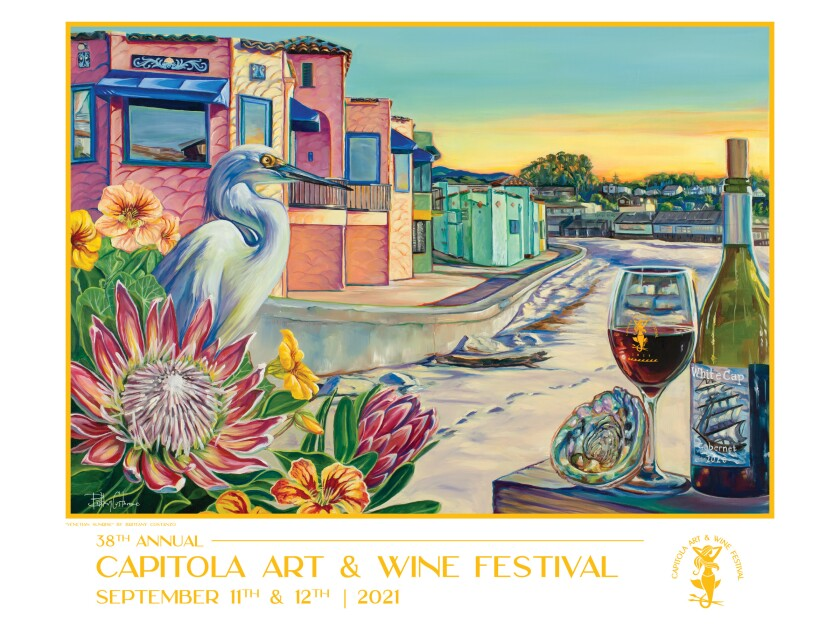 Poster for the 2021 Capitola Art and Wine Festival
