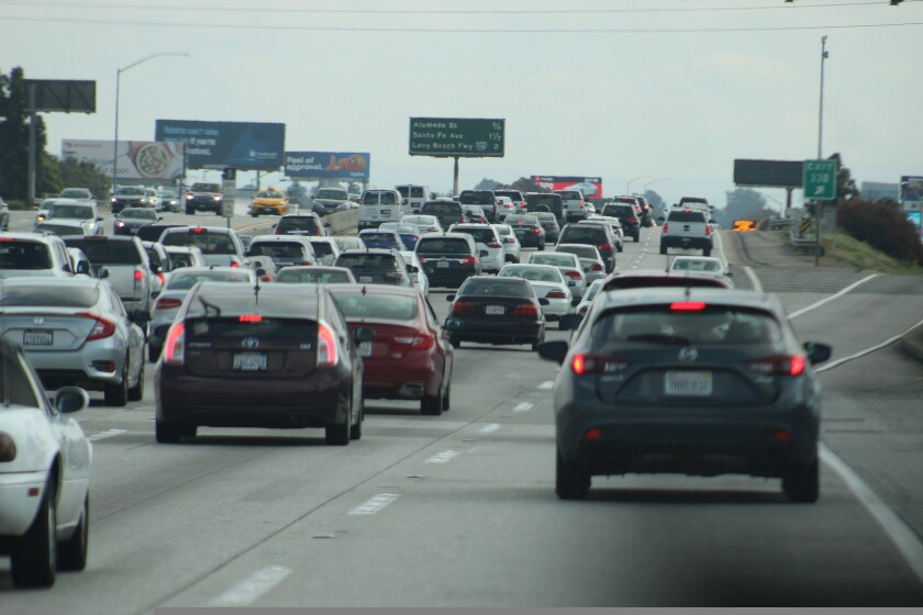 Stock image of traffic on a highway