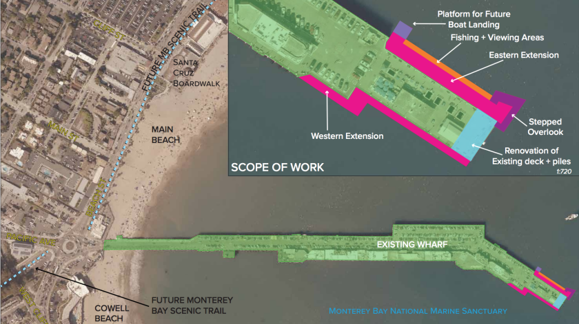 What additions to the Santa Cruz Wharf could look like.