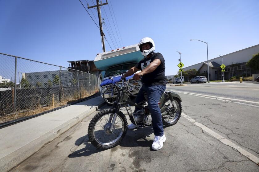 """RV dweller """"Eddie"""" talked to Lookout along Delaware Street this week."""