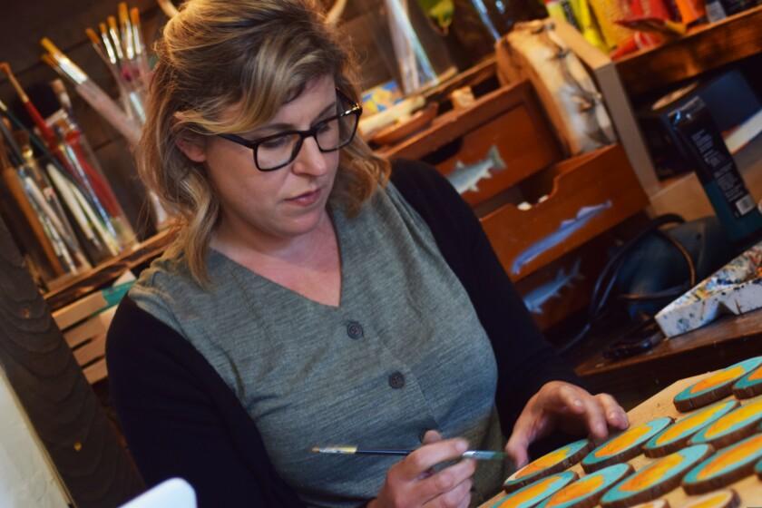 Selena Zontos, owner of Skavenge Art Gallery in Felton.