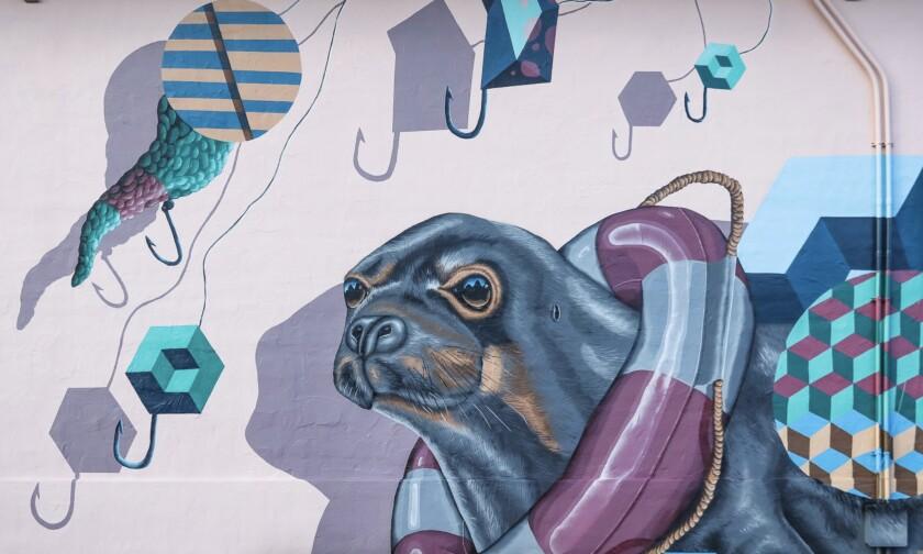 One of Sea Walls' murals in Wailuku, Hawaii.