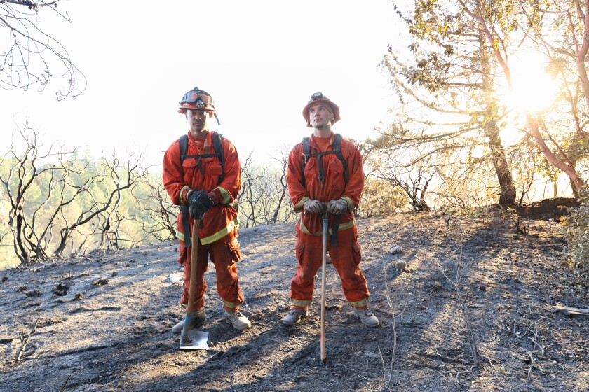 2 members of the Department of Corrections and Rehabilitation Fire Team, known as Ben Lomond Conservation Camp #45