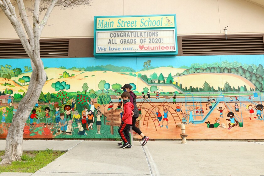 Main Street School in Soquel will be getting back to in-person soon learning under plans announced Friday.