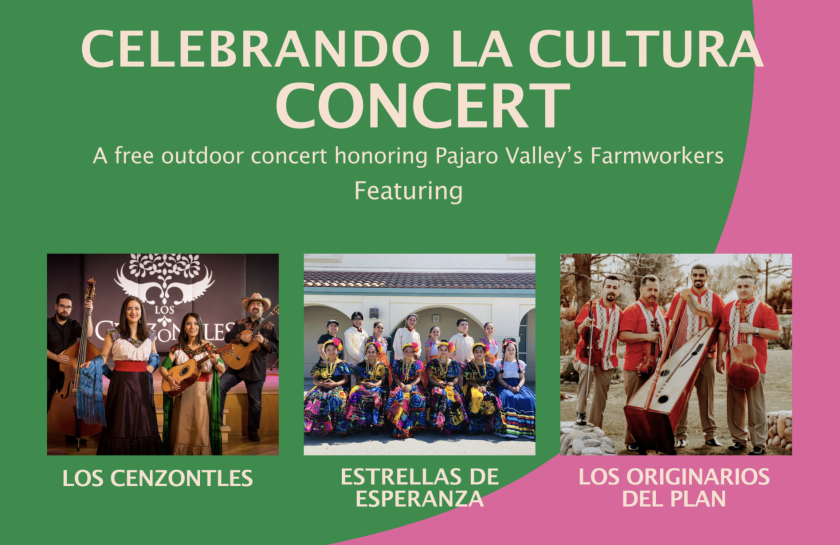 Celebrando La Cultura Concert, a free outdoor concert honoring farmworkers, will take place on Sept. 17.