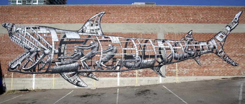 One of Sea Walls' mural projects in San Diego.