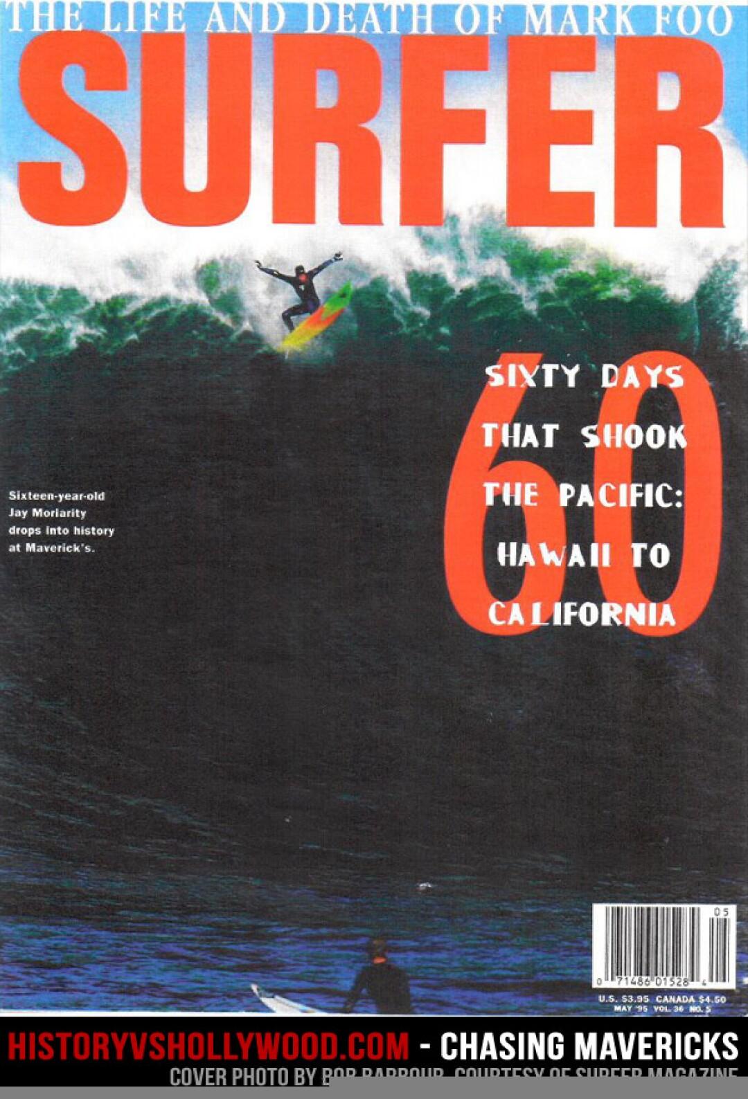 The Surfer magazine cover, and photo captured by Santa Cruz photographer Bob Barbour.
