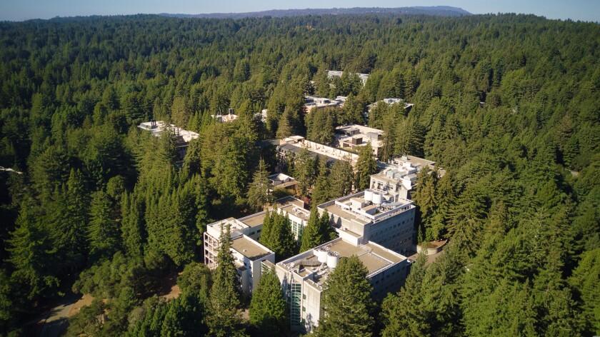 An aerial view of the UC Santa Cruz campus.