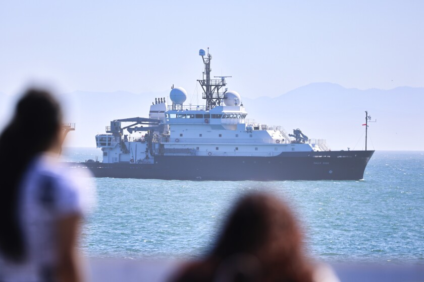 Have you seen the big boat off Santa Cruz this week? Here's what we know