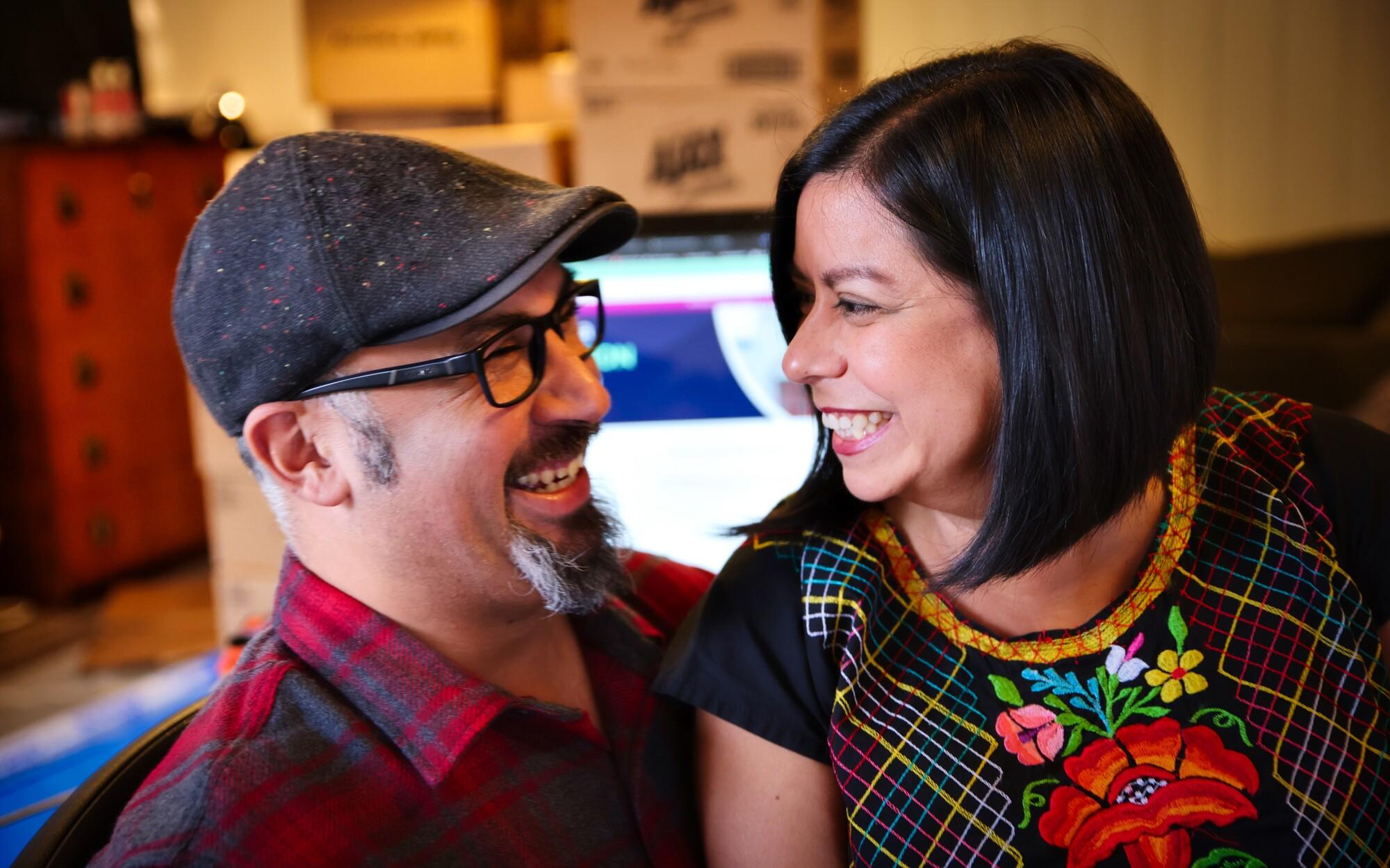 Jacob Martinez and Joanne Sanchez, leaders of the Santinez family.