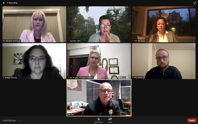 A screenshot of the leaders from Thursday's virtual meeting