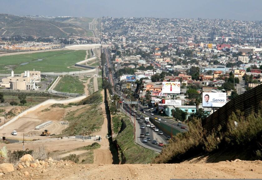 The California/Mexico border.
