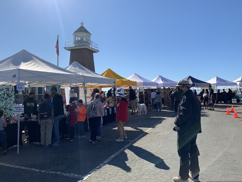 The West Cliff Outdoor Market.