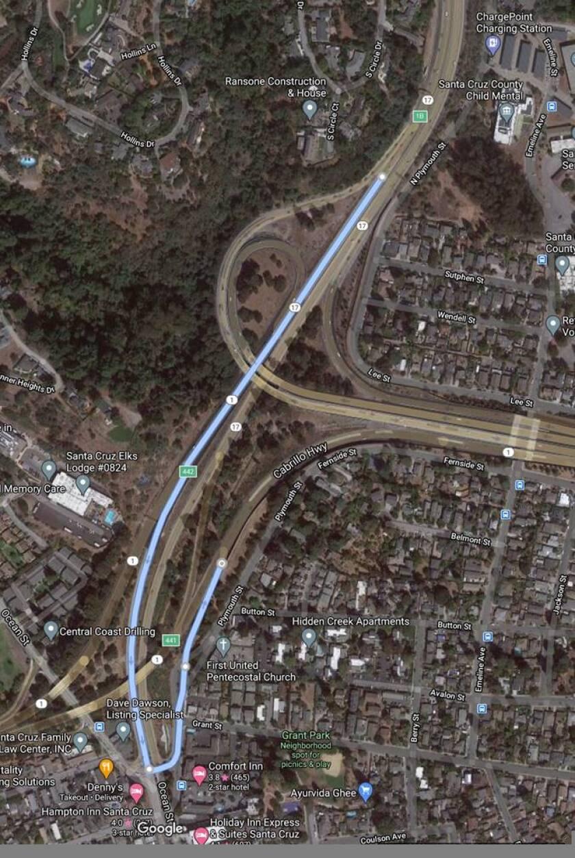 Highway 17 detour route