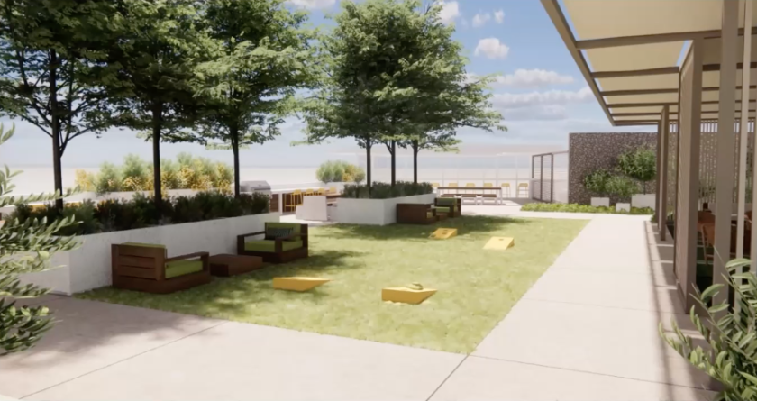 A vision of the what the rooftop at 831 Water St. could look like.