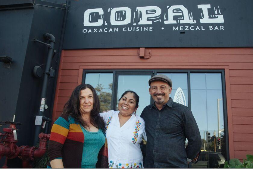 Stuyvie Bearns Esteva and Noëlle Antolin with chef Ana Mendoza.