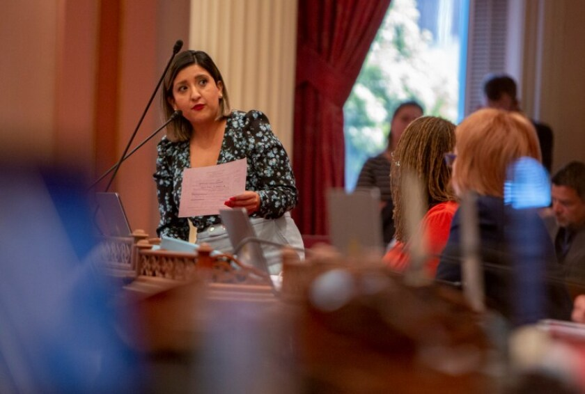 Senator Melissa Hurtado speaks in favor of SB200, a bill that would create a fund to help provide the state with clean drinking water, on July 8, 2019.